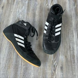 Adidas High Top Black Wrestling Shoes Size 5.5